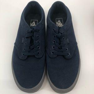 Vans Navy Sneakers with Gray Soles